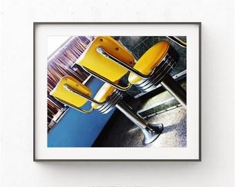 Diner photo, Kitchen Art Print, Vintage Diner Print, kitchen Poster, Kitchen Decor, Old Diner, Dining Room Decor,