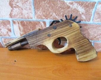 Handmade Wooden Toys,  Rubberband Gun,  Rubber Band Gun,  Kids Toy,  Birthday gift,  Kids gift, Toy Gun,  Shooter, Rubber Gun, Office Fun