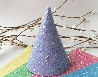 Chunky glitter party hats