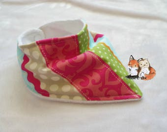 Multi-Colored stripe Girl Bandana Bib