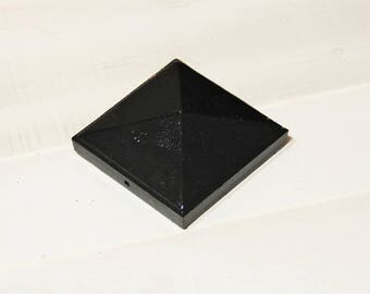 "Pyramid Post Cap for 2"", 3"" and 4"" true post, Cast Iron"