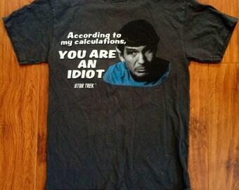 Star Trek / t shirt / black / 90s / 80s / vintage retro
