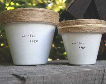 "6"" Nicolas Sage » Sage Herb Indoor and Outdoor Pot or Planter"