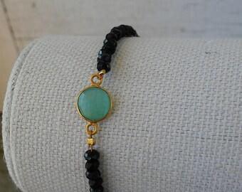 Black and Aqua Bracelet