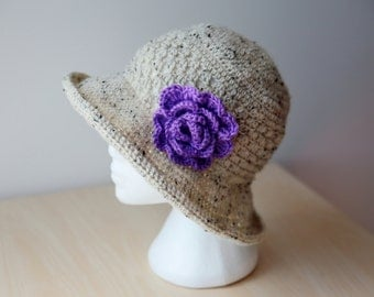 Crochet woman hat
