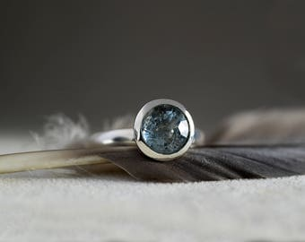 Aquamarine Ring in 925 Sterling Silver-Aquamarine Solitaire Ring-Solitaire Engagement ring-FREE SHIPPING-Ready to Ship