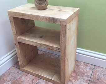 Pair of large bedside tables, cabinets, shelves, lamp tables