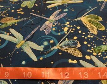 Kanvas Studio Fabric, Dragonfly by the half yard
