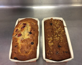 Pumpkin Bread Loaf and Cranberry Loaf - Thanksgiving Duo