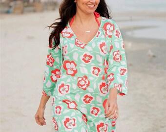 Floral Beach Tunic