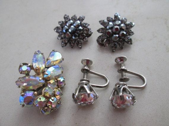 rhinestone clip on earrings back earrings