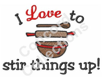 Kitchen Equipment Machine Embroidery Design