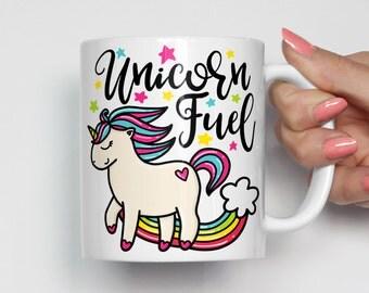 Unicorn Mug, Unicorn Coffee Mug, Unicorn Fuel, Unicorn Gift, Cute Mugs, Cute Coffee Mugs, Funny Mug, Funny Coffee Mug, Mug Gift 0366
