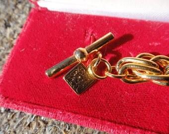 Anne Klein bracelet Bold chain link bracelet new in original box vintage Lion Anne Klein Valentines gift