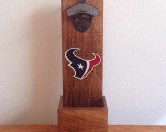 Wall Mounted Bottle Opener - Houston Texans
