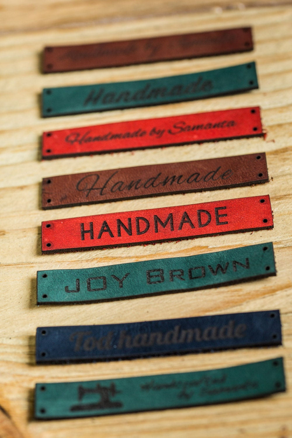 Knitting Labels Canada : Custom clothing leather labels personalized tags