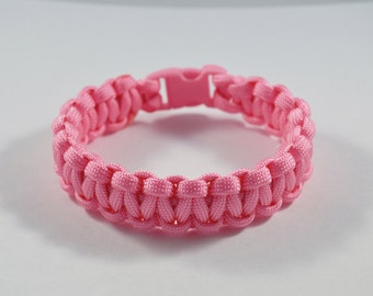 Bright Pink Breast Cancer Awareness Paracord Bracelet: Survival, Camping, Hunting, Outdoors