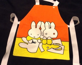 Miffy The Rabbit Aprons  #apron#Miffy#rabbits#messyplay#painting#cooking#waterplay#craft