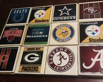 Cowboys Steelers Seahawks Giants Colts Broncos Coaster Sets  Free Shipping**Free Shipping**Free Shipping