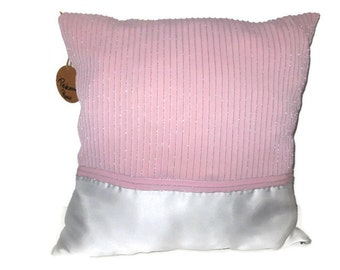 Cushion Princess Rosie, Pillow cover, handmade from recycled fabrics