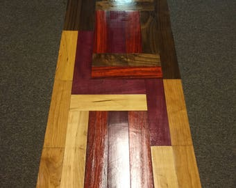 Handmade coffee table exotic wood