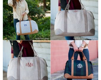 Weekender bag/Travel Bag/Luggage/Monogrammed Weekender Bag/Weekender Bag/Herringbone Weekender/Personalized Weekender Bag/Bag/Travel/Luggage