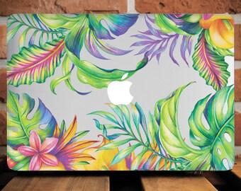 Macbook Tropical Case Macbook Air 13 Case Tropical Macbook Case Floral Macbook 12 inch case Macbook 13 Case Macbook Pro Case WCm200