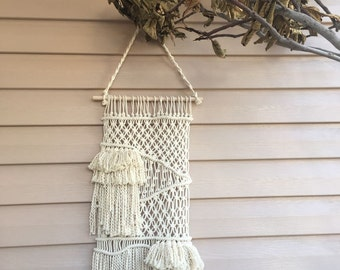 Ready to ship macrame wall hanging, handwoven tapestry, tissage mural, handmade wall tapestry, rustic home decoration, macrame wall art idea