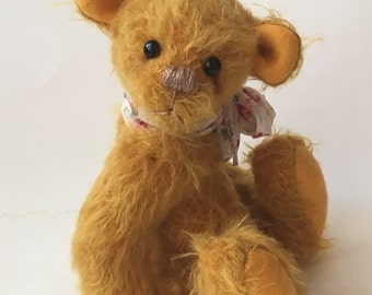 Mohair Artist Bear Artist Teddy Bear Butterscotch