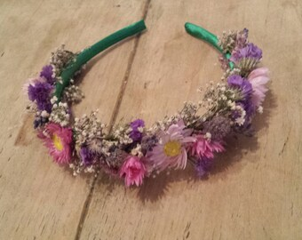 dried flower alice band