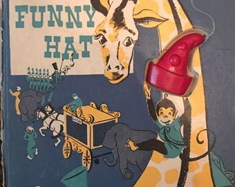 The Funny Hat Marjorie Barrows Norv Mink Rand McNally 1943 circus book