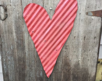 Large galvanized tin hearts, rustic hearts,rustic wedding decor, tin wedding decor, wedding decor, valentines decor, rustic valentines decor