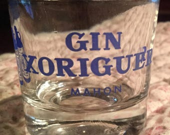Four Xoriguer Gin Shot Glasses