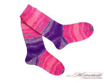 Handknitted socks size 38-39.