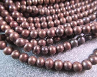 Bronze Freshwater Pearl Potato Beads 80pcs