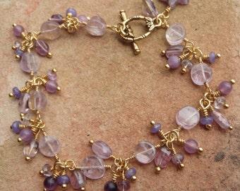 Amethyst and Jade Bracelet #131