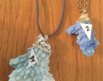Coral Pendant Necklaces