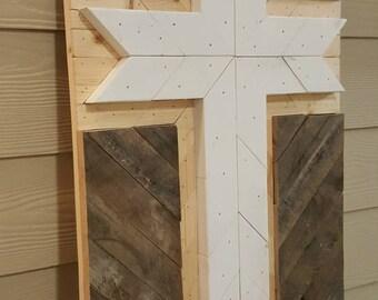 Reclaimed wood - Cross Wall Art