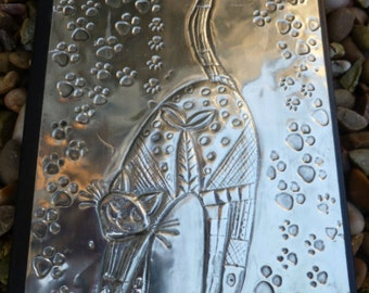 Crazy Cat Pewter Journal