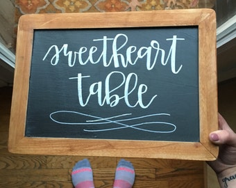 Wedding Sweetheart Table Chalkboard--Reception, Wedding Shower, Anniversary Party