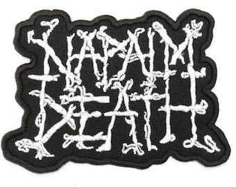 "Napalm Death Embroidered Sew Or Iron On Patch 4.2""x3.1"""