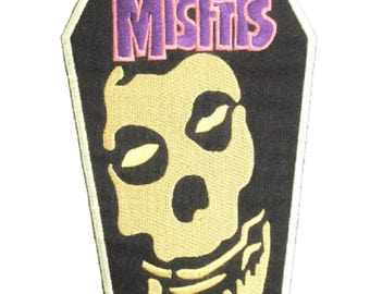 "MISFITS Skull Embroidered Giant XL Vest Back Patch Backpatch 9""x5"""