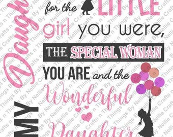 To My Daughter Love Mom SVG