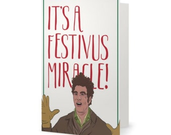 IT'S a FESTIVUS MIRACLE  |  Holiday Card  |  Funny Christmas Card  |  Seinfeld