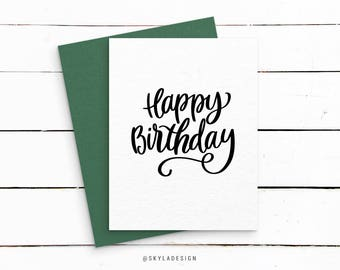 Printable Birthday card, Happy Birthday, Printable card, Birthday print, Quote prints, Printable art, Print quotes, Birthday quote