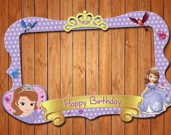 Sofia  themed party photo frame