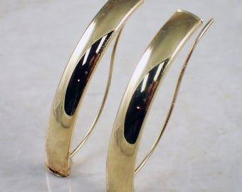 14K Yellow Gold Free Form Earrings