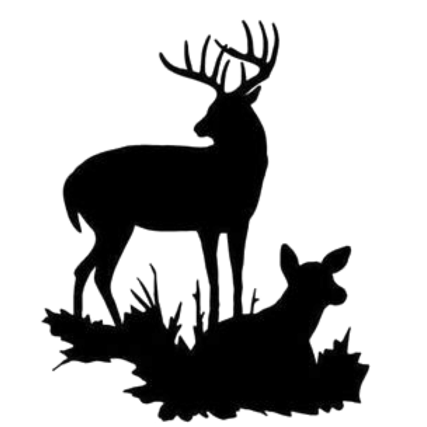 Pack Of 3 Buck And Doe Stencils Made From 4 Ply Mat Board