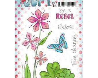 Paper Artsy Jofy 50 - Paper Artsy -  Jofy 50 Stamp - Jofy Cling Stamp - Jofy Flower Stamp - Jofy 50 Fleur Stamp - Paper Artsy Stamp