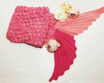 Cotton Candy Swirl Mermaid Cocoon